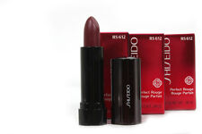 Shiseido Perfect Rouge Lipstick RS 612 Gilded Wine .08oz TRAVEL SIZE LOT OF 3