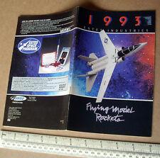 1993 Estes USA CATALOGO Flying MODELLO ROCKET ATTREZZI E MOTORI. EDIZIONE UK