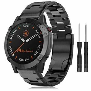 Titanium Band for Fenix 6X Watch,Quick Fit 26mm for Garmin Fenix 5X Plus/Fenix 5