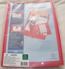 Exacompta Kreacover A4 Presentation Folder File Cover Red..(10 Pack Sealed)..