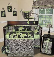 Baby Boutique - Animal Planet (Lime) - 14 pcs Crib Bedding incl. Music Mobile