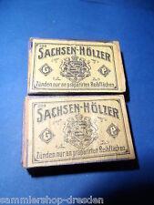 21115 2x antike Streichholzschachtel Spanschachtel Sachsenhölzer no 299 matches