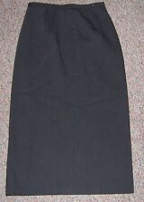 TRIBAL Dark Gray Long Dress Skirt with Back Slit Back Zipper Size 8P NWOT
