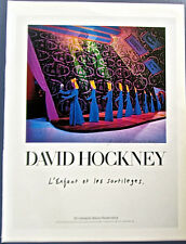 David Hockney Poster Little Princess Out of Book of Fairytales 13 1/2x10