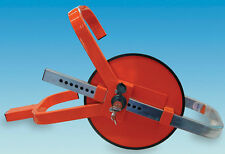 WHEEL CLAMP - Caravan / Motorhome / Trailer - Carasafe Jupiter Wheelclamp RED