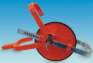 WHEEL CLAMP - Caravan / Motorhome / Trailer - Jupiter Wheelclamp RED