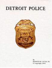 DETROIT POLICE Chronology of Badges by Lucas
