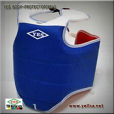 YES reversible body chest protector/TAEKWONDO/KARATEDO/SIZE ALL