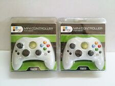 2 NEW S Type White Controllers Control Pads For Original MICROSOFT XBOX System