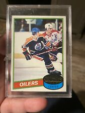 Wayne Gretzky Oilers Center Card #250 80-81 in Protective Case Topps