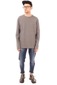 DANIELE ALESSANDRINI GREY Jumper Size XXL Thin Knit Melange Effect Made in Italy