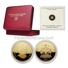Canada 2011 Manitoba Coat of Arms $300 14K Gold with Box & COA#031