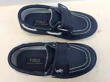 Toddler Boys POLO RALPH LAUREN Boat Deck Leather Shoes UK 7 Kids VGC