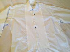 VAN HEUSEN WHITE DINNER DRESS FORMAL PINTUCK FRONT SHIRT Sz 41