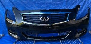 10-15 INFINITI G25 G37 SEDAN FRONT BUMPER COVER BLACK W/ UPPER GRILLE MR3-FRS456