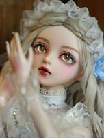 """24"""" 1/3 BJD Doll Ball Jointed Girl Puppen + Changeable Eyes + Wigs + Clothes"""