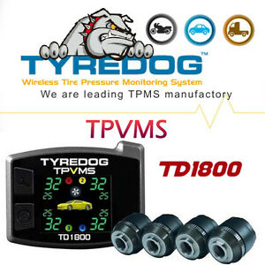 TYREDOG TPVMS TFT Monitor 4 External Sensors TPMS Fit All Sedan DIY Installation