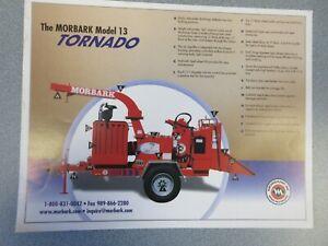 Morbark Tornado Model 13 Wood Chipper Sales Sheet