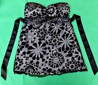 BAY Trading womens strapless top sequin padded lace party evening summer holiday