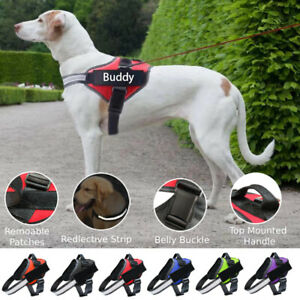 Adjustable ServiceDog Harness Pet Training Vest Reflective Patches NO PULL XSXXL