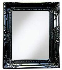 Noir Shabby Chic Miroir Mural 40x50Cm Salon Salle de Bain Couloir Maison Déco Cadeau