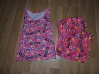Girls The Children's Place Pink Dance Tank and Shorts Size 5-6