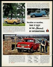 1962 International Scout SUV pickup truck & Panel-Top photo vintage print ad