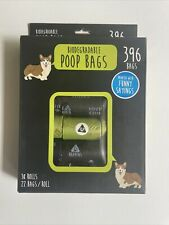 Biodegradable Poop Bags for Dogs, Biodegradable, Unscented, 396 Dog Waste Bags