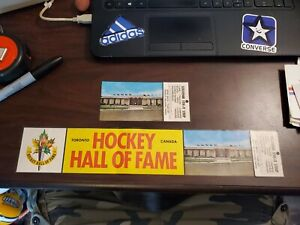 Lot 2 Vintage 70s HOCKEY HALL OF FAME Toronto Bumper Stickers NOS