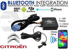 CITROEN streaming BLUETOOTH VIVAVOCE CHIAMATE ctactbt001 AUX USB MP3 iPhone Sony