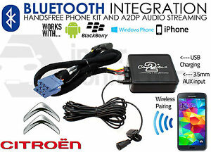 Citroen C8 Bluetooth adapter streaming handsfree calls CTACTBT001 2003-2005 RD3