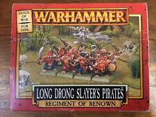 Dogs Of War Long Drong Slayers Pirates dwarves New boxed Warhammer Ror Metal Oop