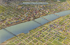 Aerial View Of Little Rock Arkansas Stamped 1945   # B5