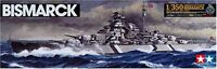 TAMIYA 1/350 Plastic Model Kit 78013 of fine German Battleship BISMARCK NEW F/S