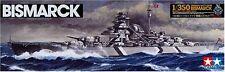 TAMIYA 1/350 Plastic Model Kit 78013 of fine German Battleship BISMARCK NEW F/S