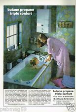Publicité advertising 1973 Le Gaz Butane Propane par Genest