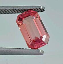 Natural Ceylon Orangish Pink Padparadscha Sapphire Loose Radiant Cut Gemstone