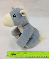 Precious Moments Tender Tails Donkey Gray w/ Yellow Plush Stuffed Animal Enesco