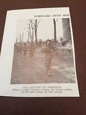 m12a ephemera 1945 ww2 picture capture of emmerich frech canadian infantry