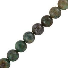 "12mm Round Chrysocolla Semi-Precious Gemstone Beads - 15"" Strand (J43/1)"