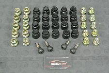 1984-87 Regal Grand National GNX Stlye Lug Nuts Black Plastic Caps & Valve Stems
