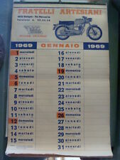 CALENDARIO 1969 MOTO MORINI RICAMBI ACCESSORI BOLOGNA OLD MOTO MADE IN ITALY