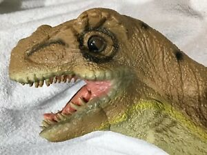 "Disney DINOSAUR Latex Rubber Dinoland Animal Kingdom Toy 12"" hand puppet T-Rex"