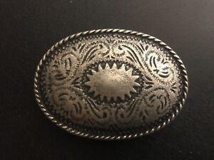 Vintage ,Western,Navajo,Cowboy,Native American belt buckle.old silver plaiting.