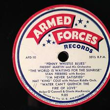 NAT KING COLE / GISELE MACKENZIE us air force comp LP VG+ AFD-9/10 Mono USA Jazz
