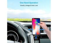 Qi Auto Wireless Car Charger Clamping Air Vent Phone Holder Fast Charging Mount