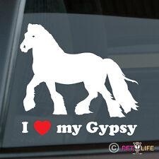I Love my Gypsy Sticker Die Cut Vinyl - Irish Cob Coloured Tinker Horse
