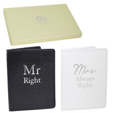 Wedding Gift Set - Passport Covers - Mr Right Mrs Always Right