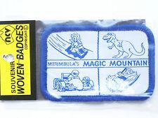 VINTAGE MERIMBULA'S MAGIC MOUNTAIN EMBROIDERED PATCH SOUVENIR WOVEN CLOTH BADGE