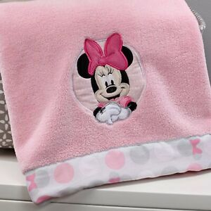 Disney Minnie Mouse Polka Dots Baby Girl Blanket Crib Throw Newborn Girl Gift